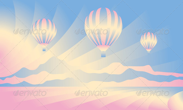 GraphicRiver Air Balloon in the Sky 5052603