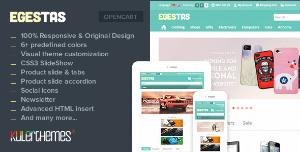 ThemeForest Egestas Responsive OpenCart Fashion Template 5052827