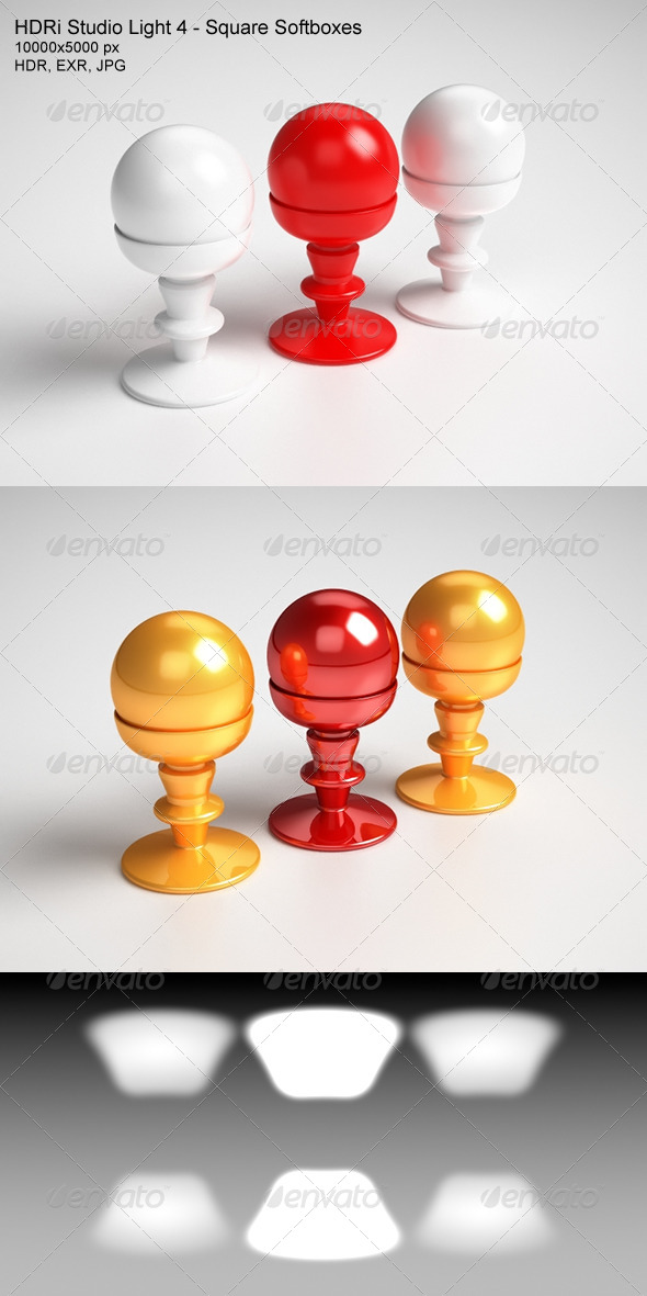 HDRi Studio Light 4 - Squared Softboxes - 3DOcean Item for Sale