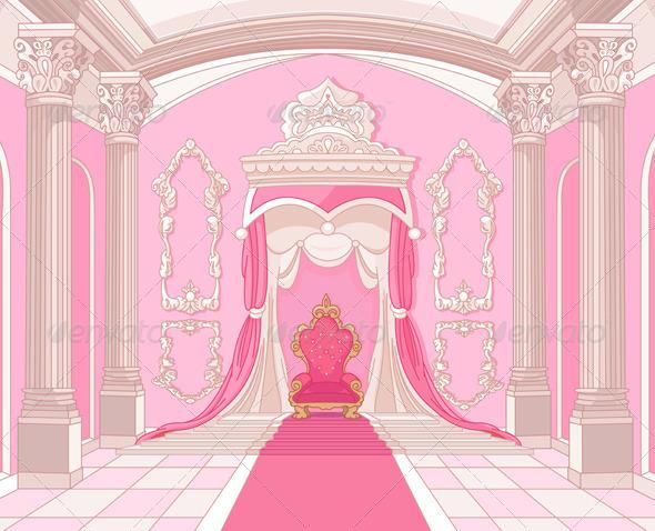 GraphicRiver Throne Room of Magic Castle 5053119