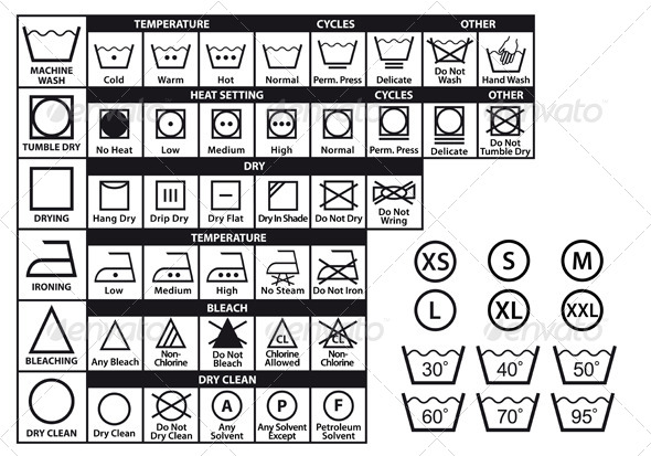 GraphicRiver Textile Care Symbols Set 5053191