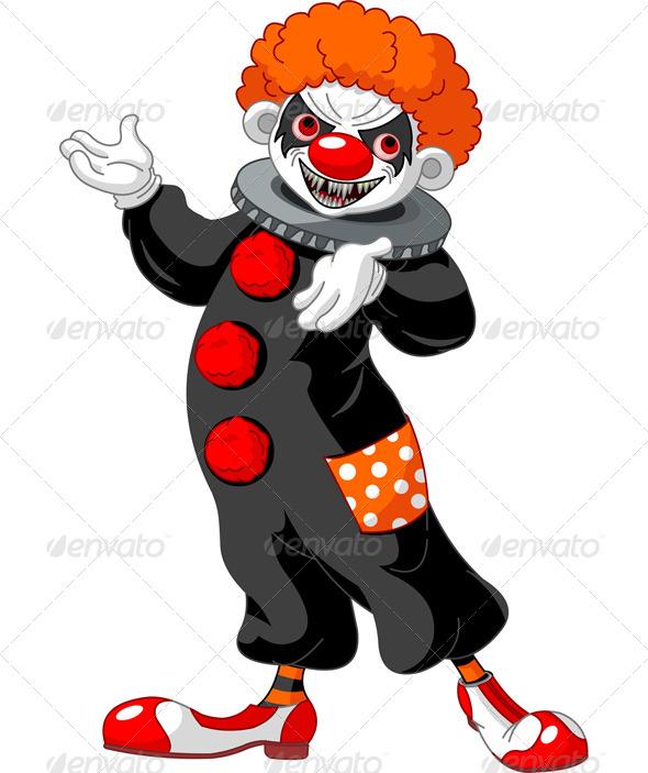 Halloween Clown Presenting