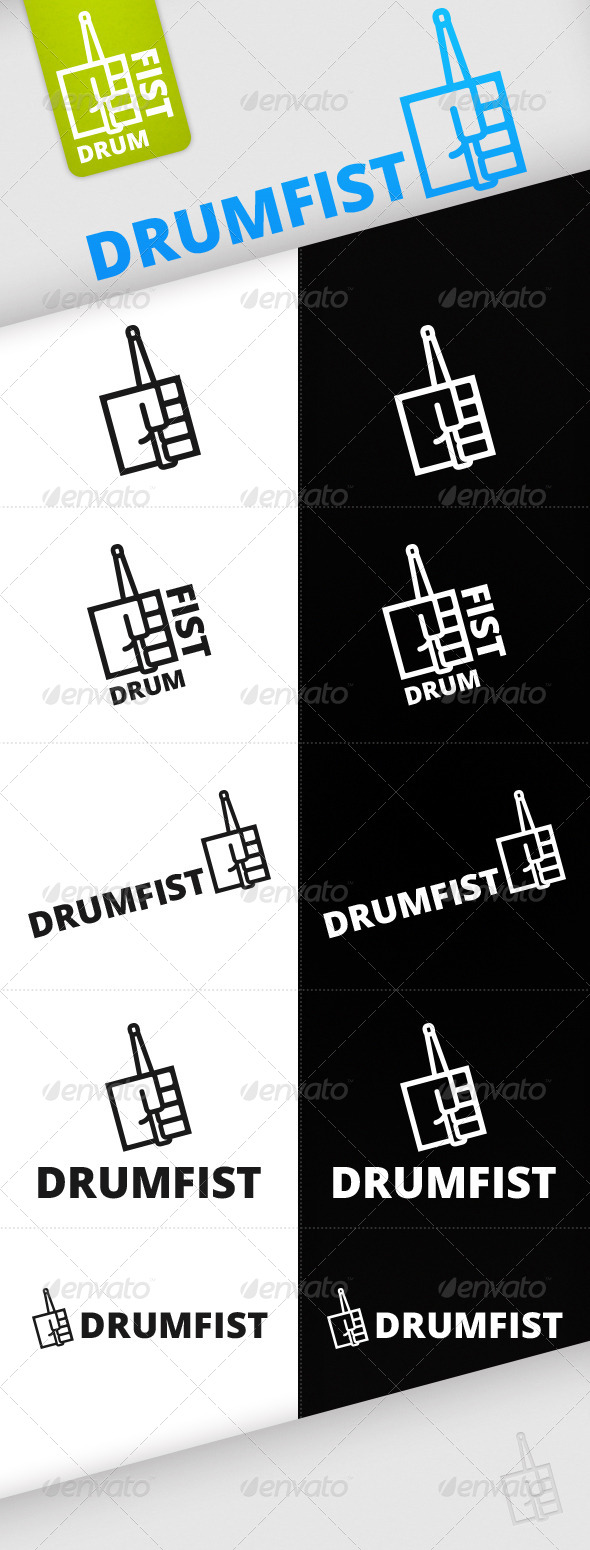 GraphicRiver Vector Drumfist Logo Template 5004357