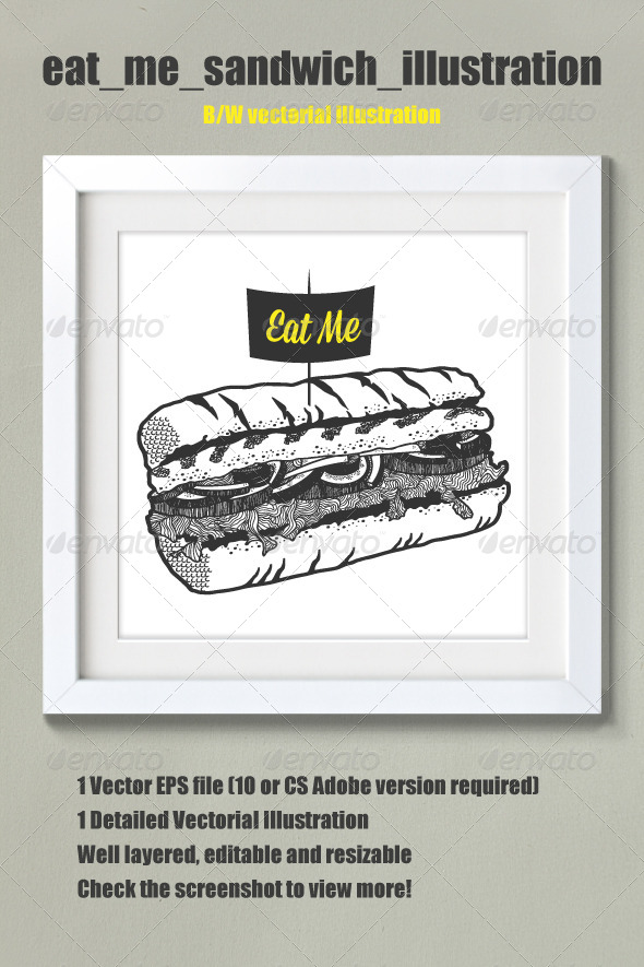 GraphicRiver Hand Drawn Sandwich Illustration 5053714