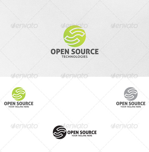 GraphicRiver Open Source Logo Template 5053734