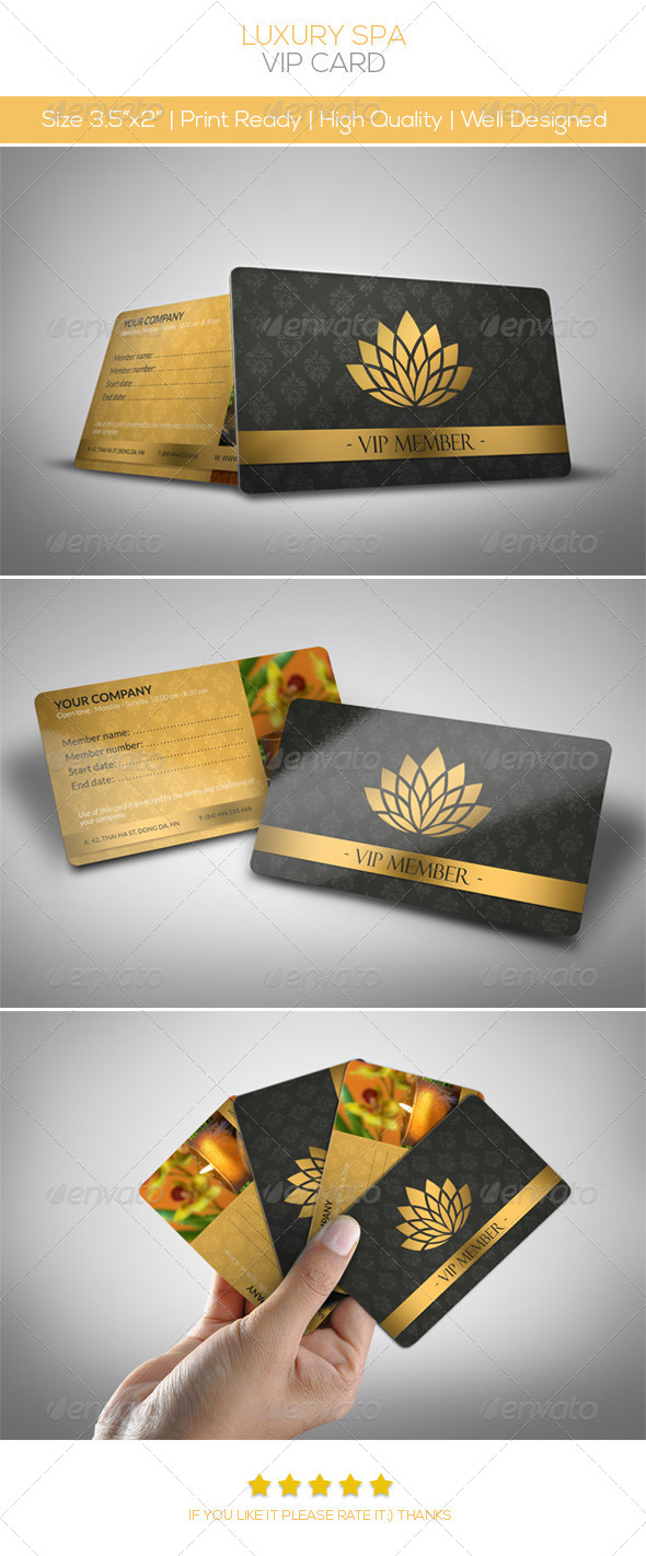 Luxury Spa Vip Card