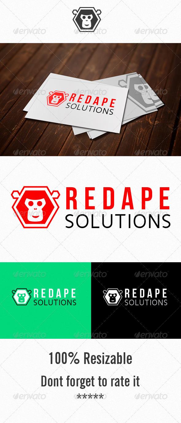 GraphicRiver Red Ape Solution Logo 5053822