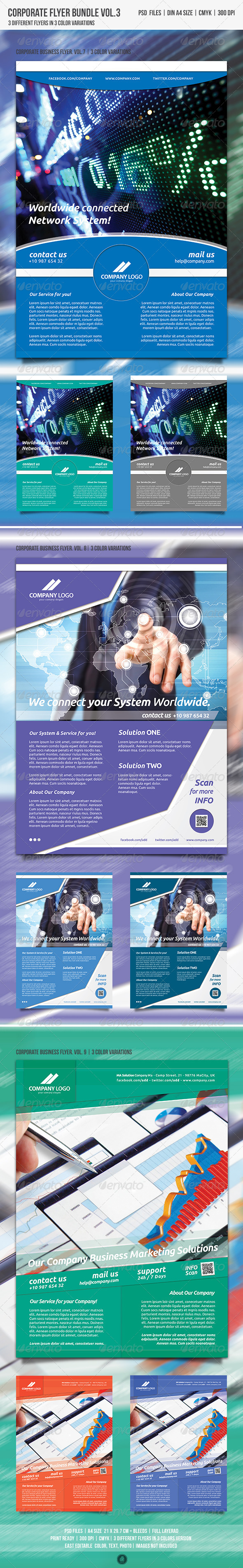 GraphicRiver Corporate Business Flyer Bundle Vol.3 4989196