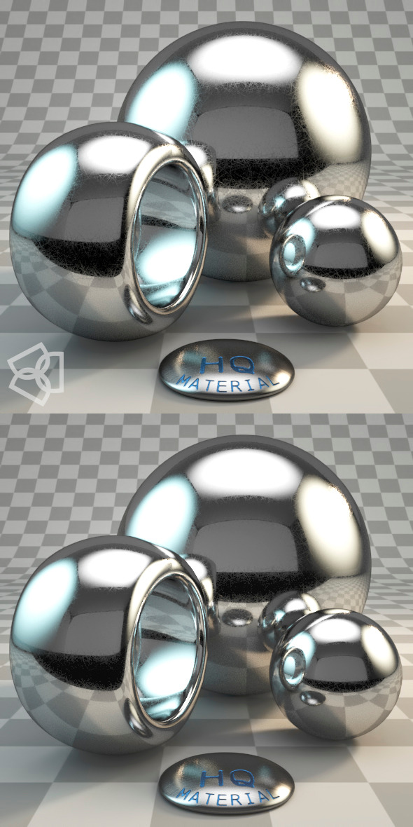 Vray CHROME micro-scratches - 3DOcean Item for Sale