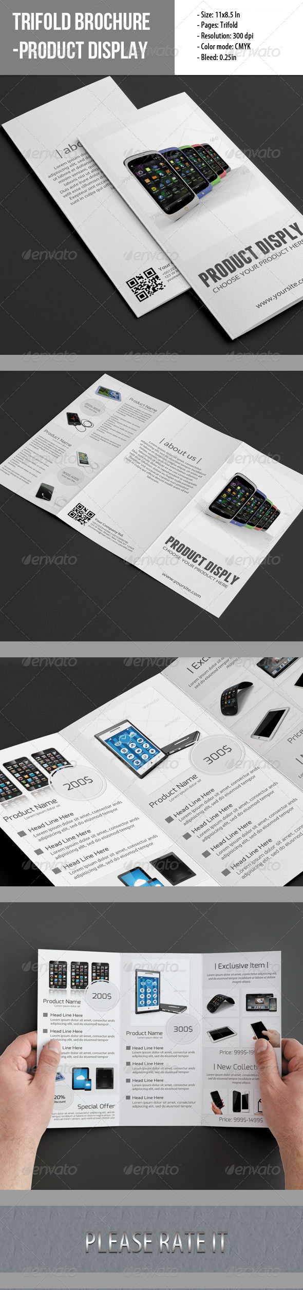 GraphicRiver Trifold Brochure For Product Display 4993961