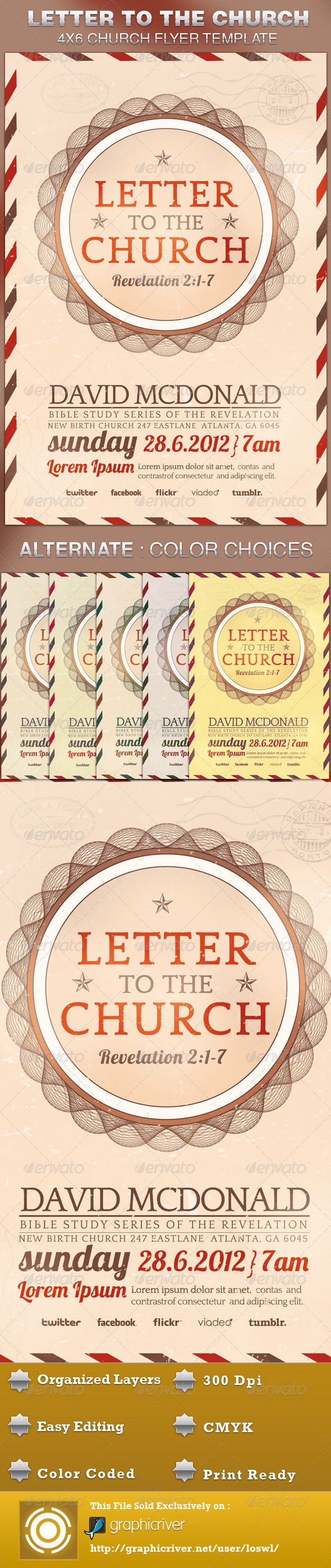 GraphicRiver Letter to the Church Flyer Template 5054309