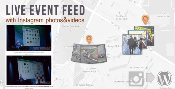 Live Event -feed med Instagram bilder og videoer - WorldWideScripts.net Element til salgs