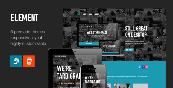 ThemeForest Element Flexible One Page Template 5054585