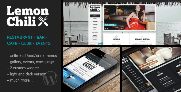LemonChili - a Premium Restaurant WordPress Theme