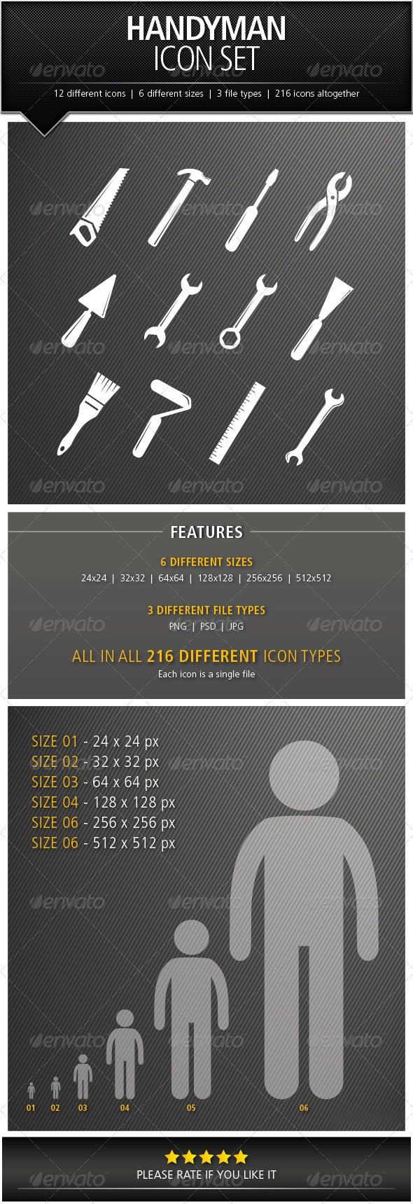 GraphicRiver Handyman Icon Set 5054653