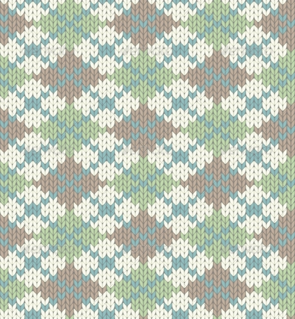 GraphicRiver Knitted Pattern with Rhombus 5054656