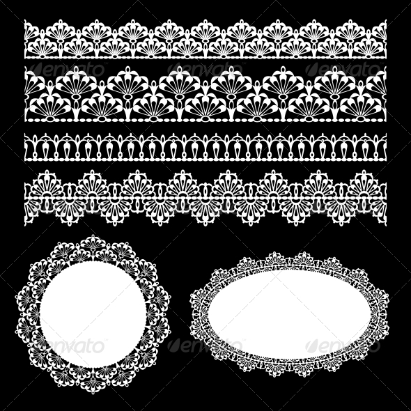 GraphicRiver Seamless Lace Set 5054673