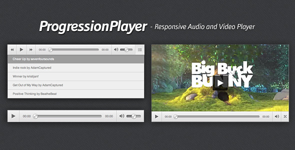 CodeCanyon ProgressionPlayer Responsive Audio Video Player 5054710