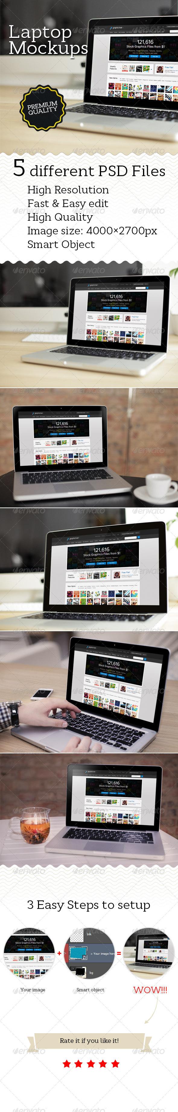 GraphicRiver Laptop Mockups 5006693