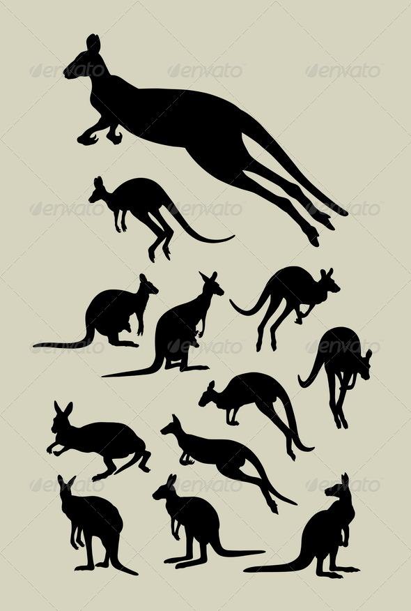 GraphicRiver Kangaroo Silhouettes 5054959