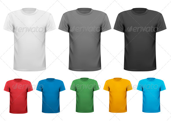 GraphicRiver Black White and Colour Men Polo Shirts 5055009