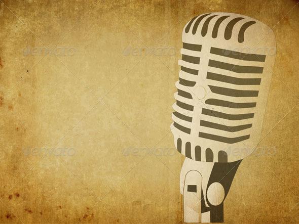 GraphicRiver Retro Microphone Background 5055681