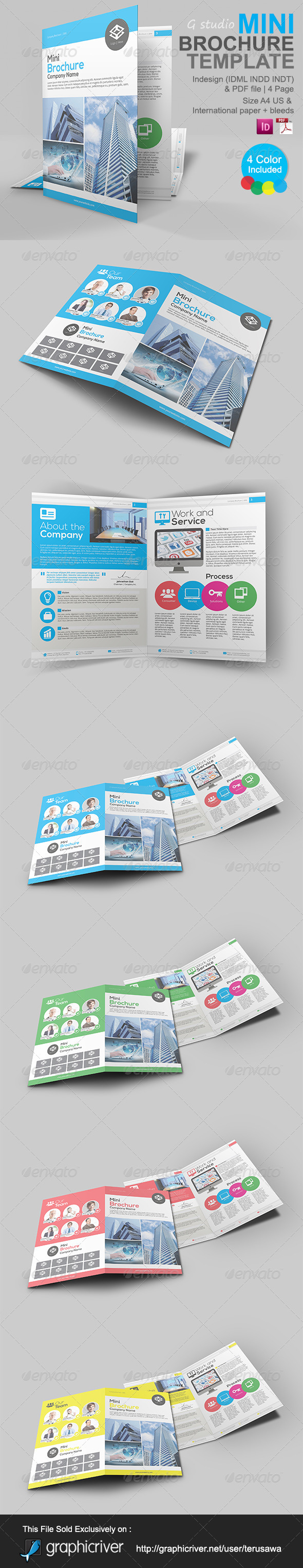 GraphicRiver Gstudio Mini Brochure Template 5055743