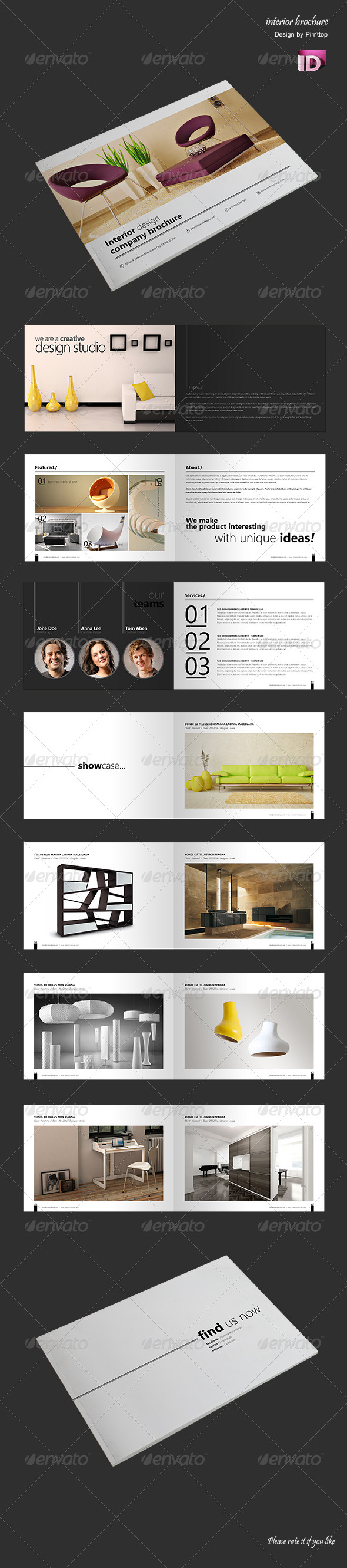 GraphicRiver Brochure Catalogue Interior Studio 5055838