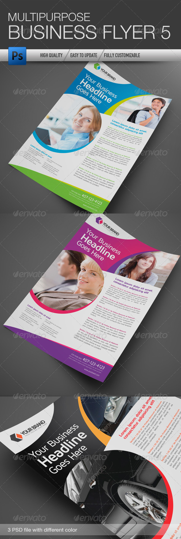 GraphicRiver Multipurpose Business Flyer 5 5055938