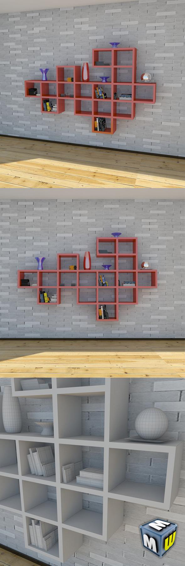 3DOcean Bookshelf 2 MAX 2011 5003836