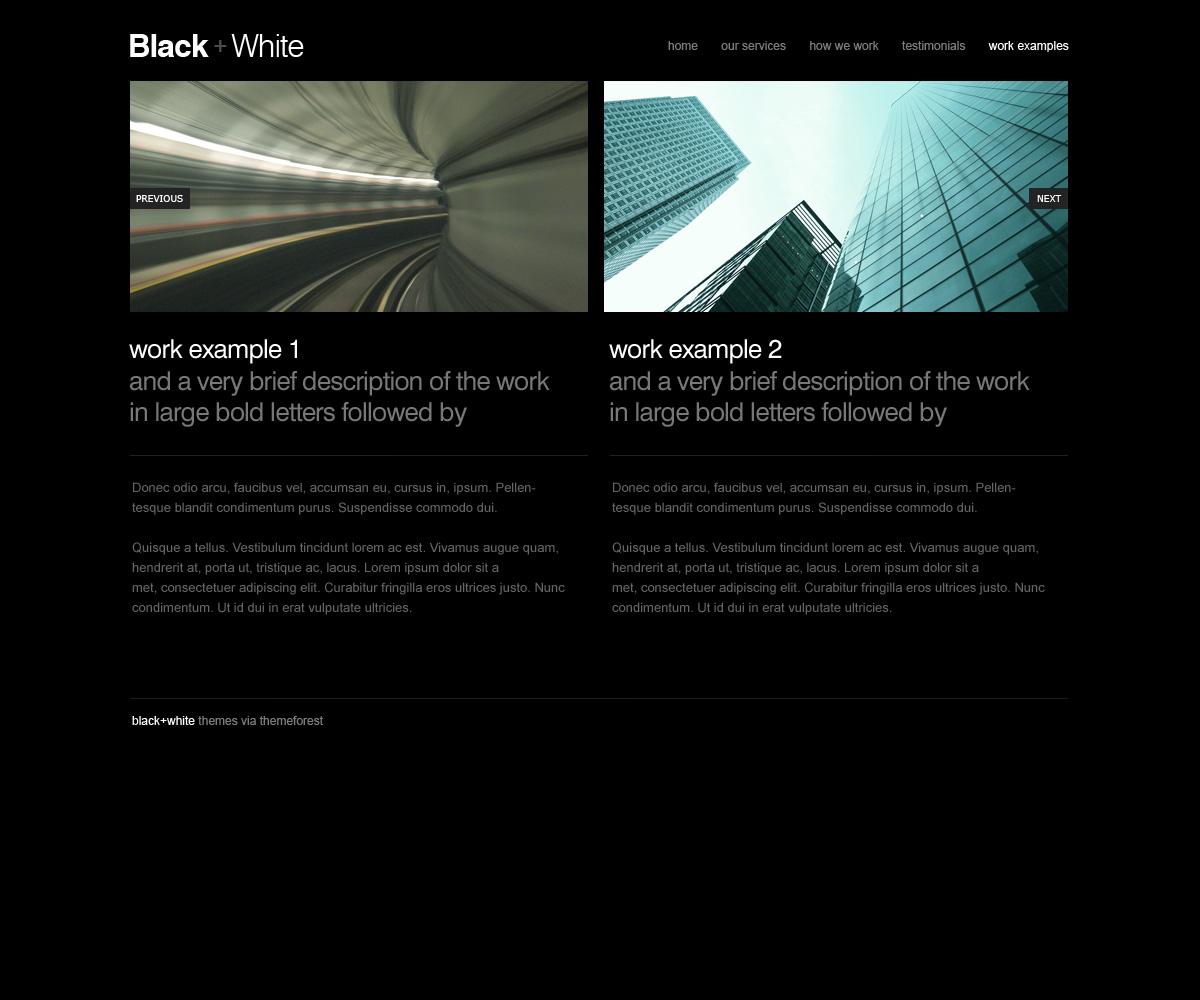 Black + White Simple Theme
