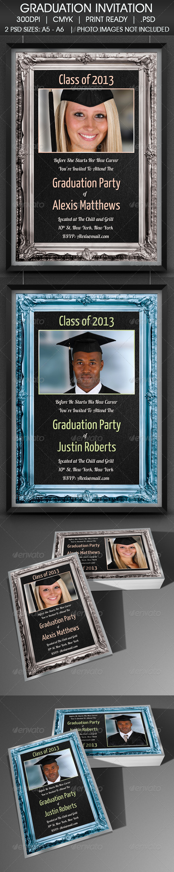 Graduation Party Degree Invitation - Invitations Cards & Invites