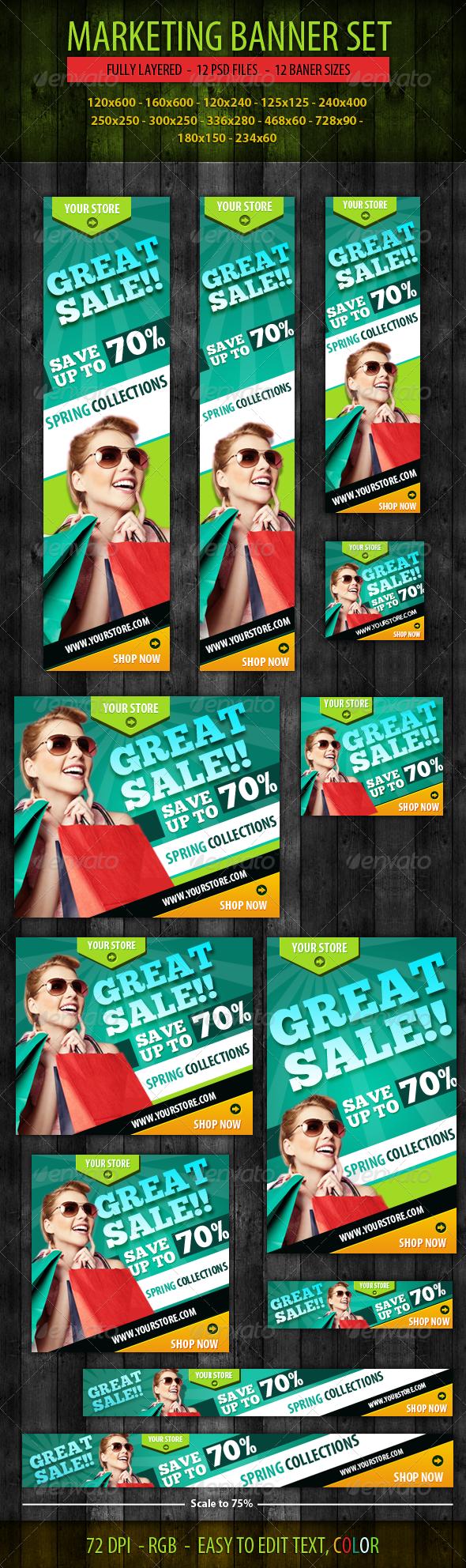 GraphicRiver Marketing Banner Set 5056359