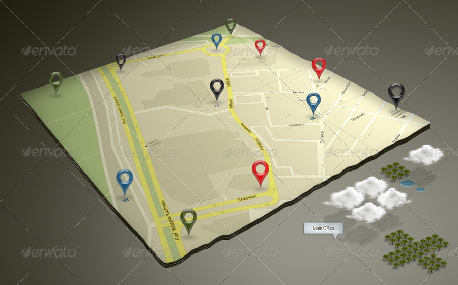 3d Google Map Mock Up By Robbiewilliams Graphicriver