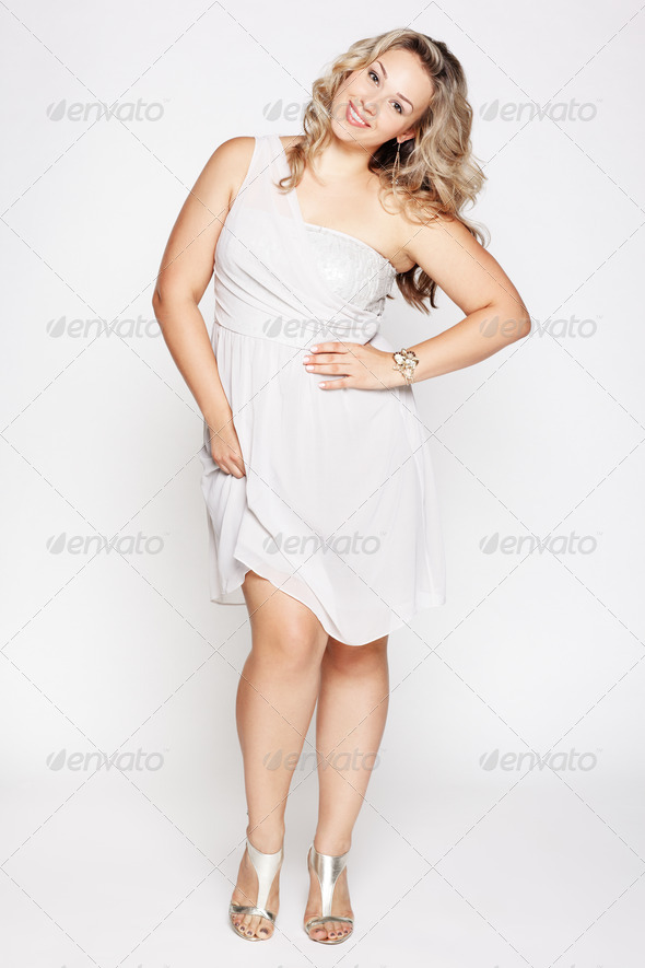 beautiful plus size woman - Stock Photo - Images