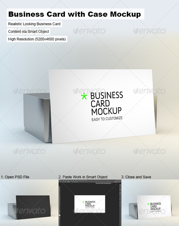 GraphicRiver Business Card with Case Mock-Up 5056904