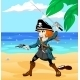 Pirate Girl on the Beach - GraphicRiver Item for Sale