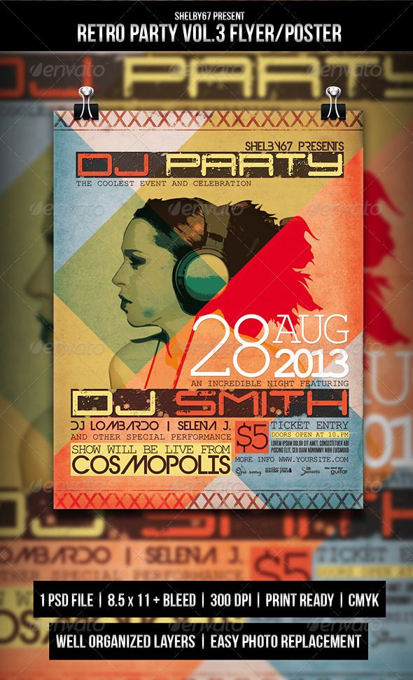 GraphicRiver Retro Party Flyer Poster Vol.3 5056959