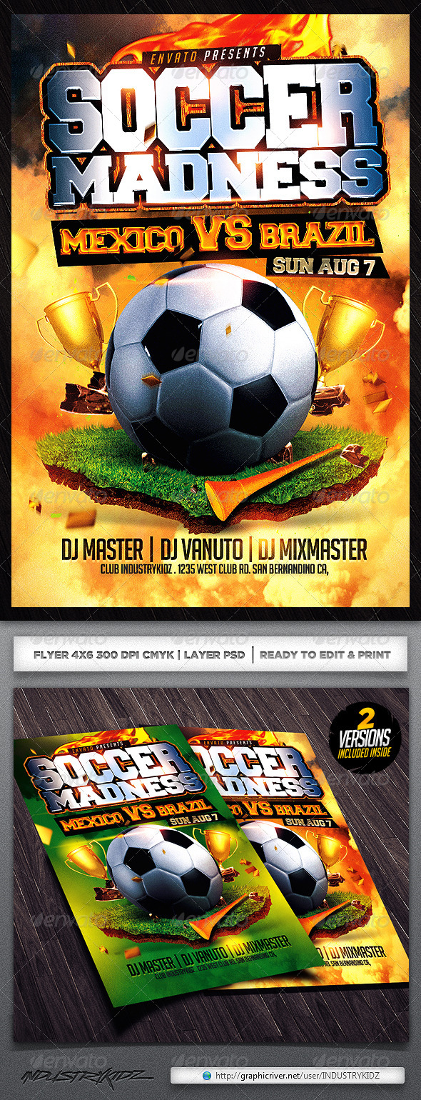 GraphicRiver Soccer Flyer Template 5056978