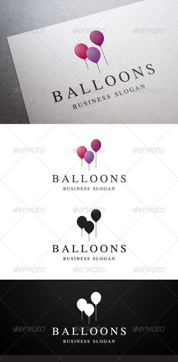 GraphicRiver Balloons Logo 5057386