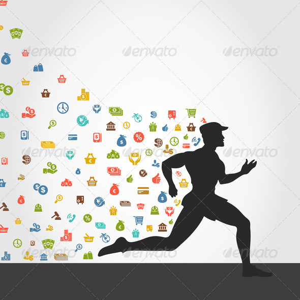 Runner money - Stock Photo - Images