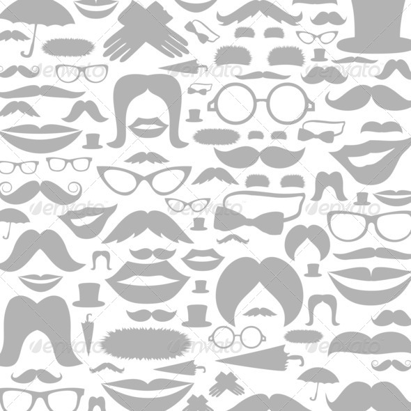 Moustaches a background - Stock Photo - Images