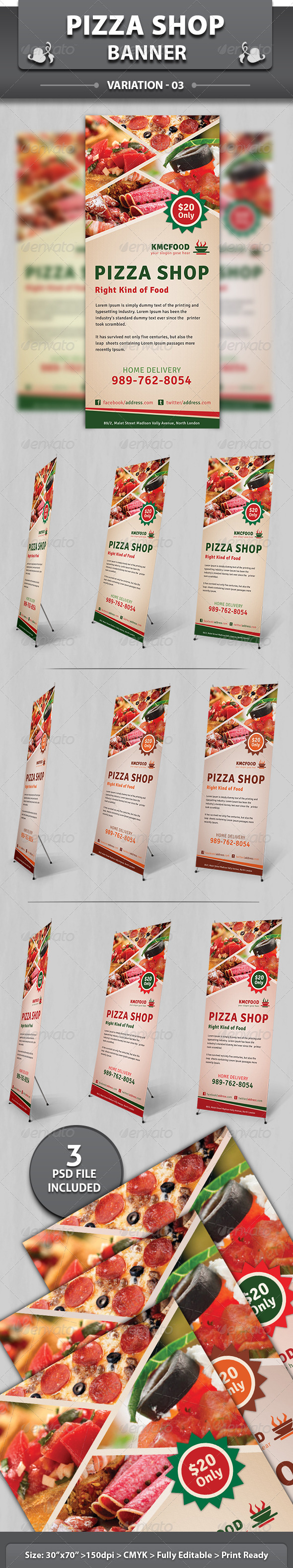 Restaurant Business Banner | Volume 2 - Signage Print Templates