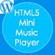 HTML5 Mini Music Player met een playlist - WP Plugin - WorldWideScripts.net Item te koop