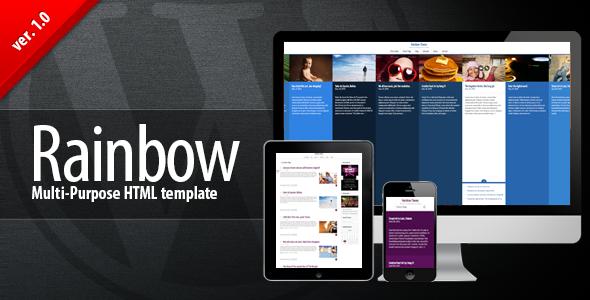 Rainbow HTML – Multi-purpose Premium Template (Portfolio) images