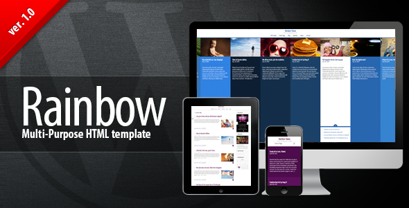 ThemeForest Rainbow HTML Multi-purpose Premium Template 5042556