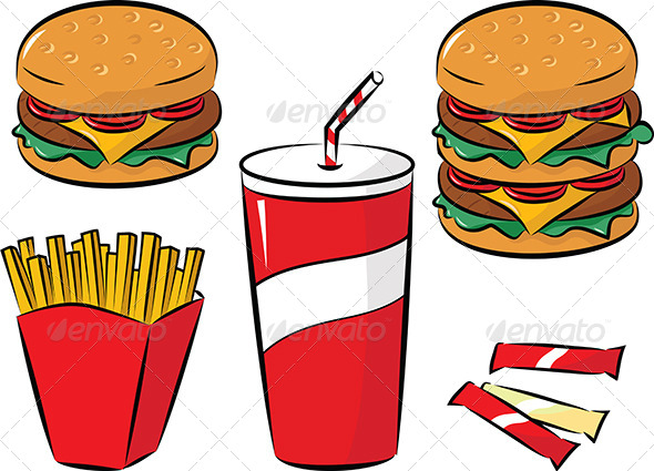 GraphicRiver Fast Food 5058290 Created: 28 June