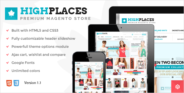 Highplaces - Responsive & Retina Magento Theme - Magento eCommerce