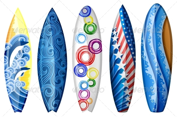 GraphicRiver Surfboards 5058391