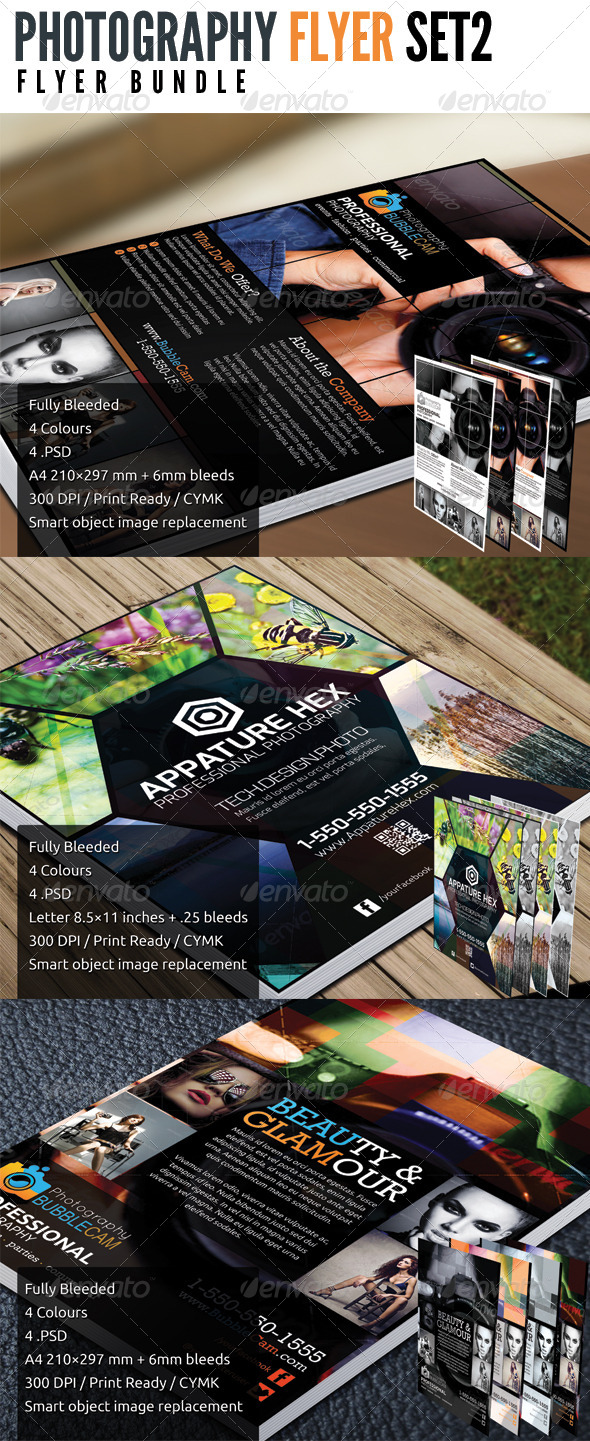 Photography Flyer Bundle Set 2 - Flyers Print Templates